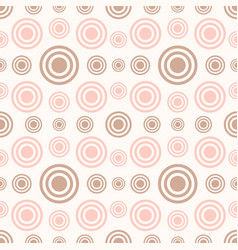 abstract seamless pattern with rings and circles vector image