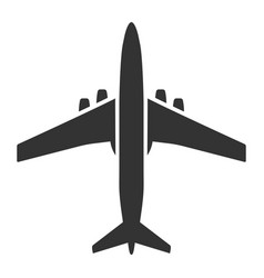 airplane black icon flying vehicle aircraft for vector image