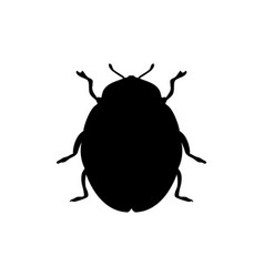 beetle insect black silhouette animal vector image