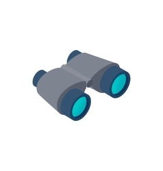 Black binoculars isometric 3d icon vector