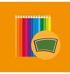 Blackboard school icon set colors vector