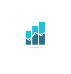Business finance chart analytic logo vector