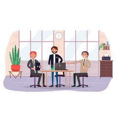 business partners invite to business meeting in vector image