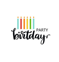 Card with happy birthday lettering vector