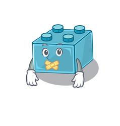 Cartoon character design lego brick toys making vector