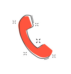 cartoon phone icon in comic style mobile sign vector image
