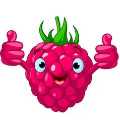 Cartoon raspberry character vector