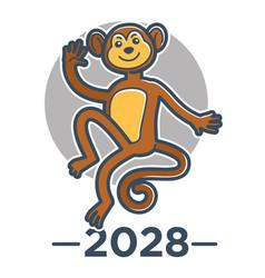 chinese horoscope and new year symbol monkey or vector image