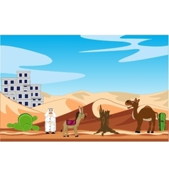 City in desert vector