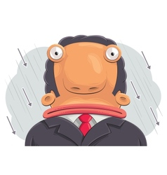 confused businessman vector image vector image