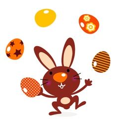Cute jumping bunny vector image