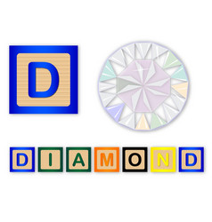 d is for diamond vector image