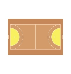 Detailed of a handball field vector