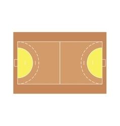 detailed of a handball field vector image