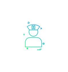 doctor healthcare medical icon desige vector image