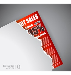 Evoloped Sales Promotional Poster vector image