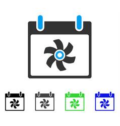 Fan calendar day flat icon vector