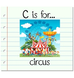 Flashcard letter C is for circus vector image