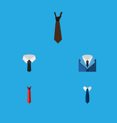 flat icon tie set of tie suit textile and other vector image