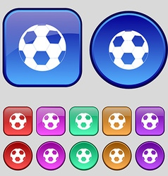 Football icon sign A set of twelve vintage buttons vector