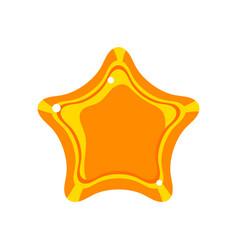 golden cartoon glossy star vector image