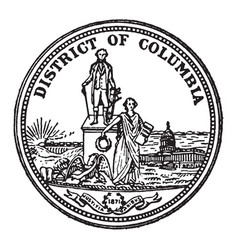Great seal district columbia vintage vector