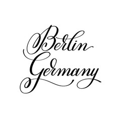 hand lettering name european capital vector image