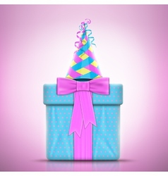 Holiday Design With Gift and Party Hat vector