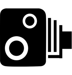 Isolated speed camera vector