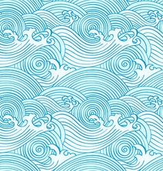japanese seamless waves vector image