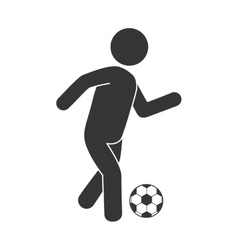 Man soccer football vector