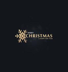 modern abstract gold christmas snowflakes on dark vector image
