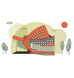 Modern concert buildings in flat style vector