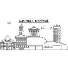 Nashville tennessee architecture line skyline vector