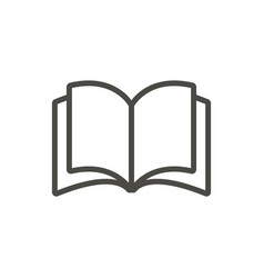 open book icon line education symbol vector image