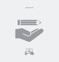 pencil - minimal modern icon vector image