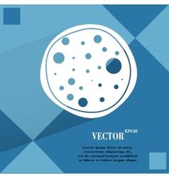 Pizza Flat modern web button on a flat geometric vector image