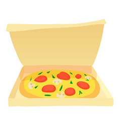 pizza icon cartoon style vector image vector image