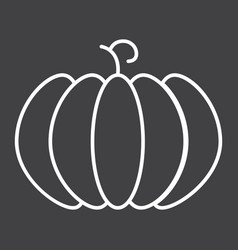 Pumpkin line icon fruit and vegetable vector