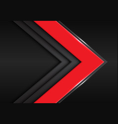Red grey arrow direction on dark blank space vector