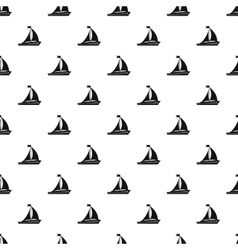 Sailing ship pattern simple style vector image vector image