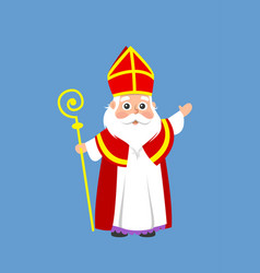saint nicholas or sinterklaas - cartoon style vect vector image