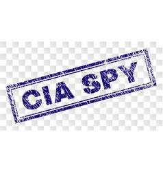 Scratched cia spy rectangle stamp vector