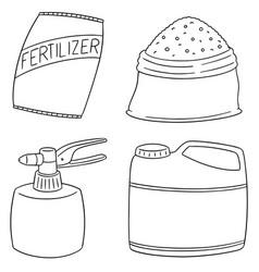 Set of fertilizer vector