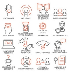 Set of icons related to business management - 27 vector