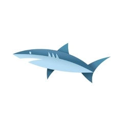 shark in blue colors a vector image
