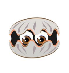 shellfish cartoon or clipart cartoon vector image