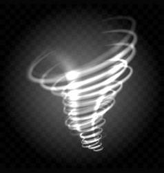 shine whirlwind tornado vector image