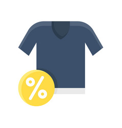 Shirt black friday related flat icon vector