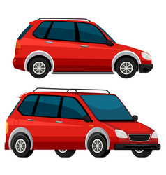 Side of the red car vector
